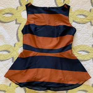 Banana Republic Tops - Banana Republic Blue and Orange Peplum Top